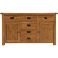 Alton Oak 2 Door 6 Drawer Sideboard
