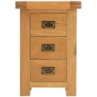 Alton Oak 3 Drawer Bedside