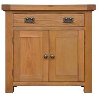 Alton Oak Small 2 Door 1 Drawer Sideboard