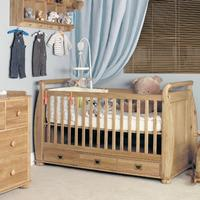 Amelie Oak Cot-Bed with Three Drawers (Amelie Oak Cot-Bed with Three Drawers)