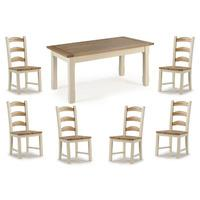 Camden Painted Pine & Ash Dining Table & 4 or 6 Camden Painted Pine & Ash Chairs (Table & 6 Dining Chairs)