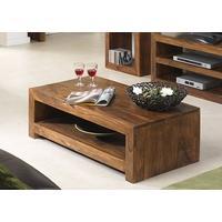 Cuba Sheesham Coffee Table with Shelf