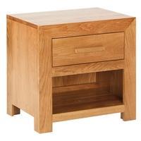 Cuba Solid Oak 1 Drawer Nightstand