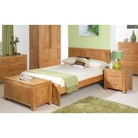 Cuba Solid Oak Bed - Single