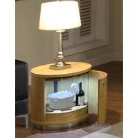 Jual Curve Oak Mini Bar Lamp Table JF608 (Jual Curve Oak Mini Bar Lamp Table JF608)