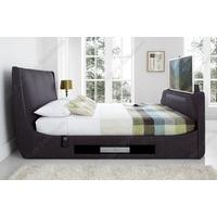 Kaydian Sommer Slate Fabric TV Bed with Soundbar (Kaydian Sommer Slate Fabric TV Bed with Soundbar -Super King Size)