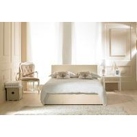Madrid Ivory Faux Leather Ottoman Bed - (multiple sizes) (Madrid Ivory Faux Leather Ottoman Bed - King Size)
