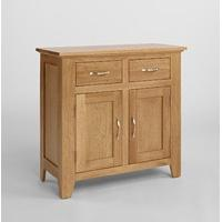 Sherwood Oak Compact Sideboard with 2 Doors & 2 Drawers