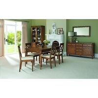 Sophia Oak 4-6 Extension Dining Table & 4 or 6 'X' Back Dining Chairs  (Table & 6 Chairs)
