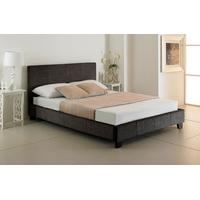 Valencia Charcoal Upholstered Bed - (multiple sizes) (Valencia Charcoal Upholstered Bed - small double)