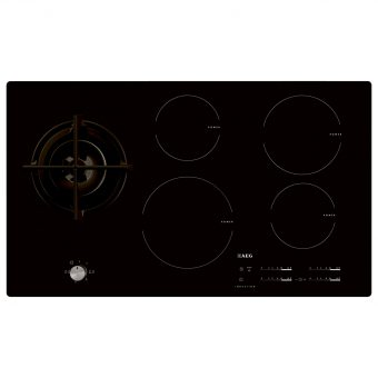 AEG HD955100NB Built-In Glass Induction and Gas Hob