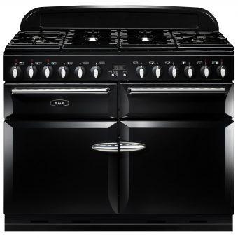 AGA Masterchef XL 110 Dual Fuel Range Cooker Gloss Black