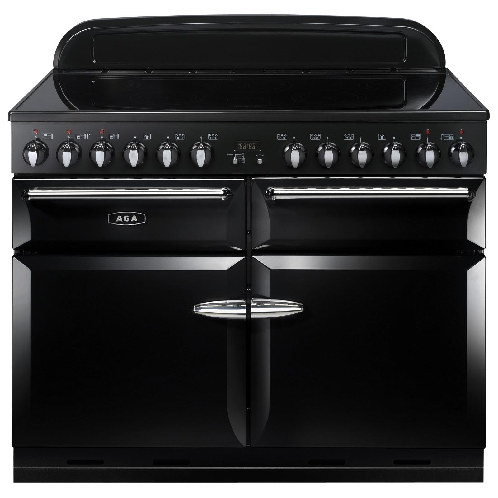 AGA Masterchef XL 110 Induction Range Cooker Gloss Black