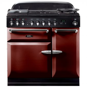 AGA Masterchef XL 90 Dual Fuel Range Cooker Cranberry