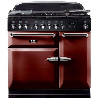 AGA Masterchef XL 90 Dual Fuel Range Cooker Cranberry