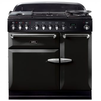 AGA Masterchef XL 90 Dual Fuel Range Cooker Gloss Black