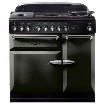 AGA Masterchef XL 90 Dual Fuel Range Cooker Pewter