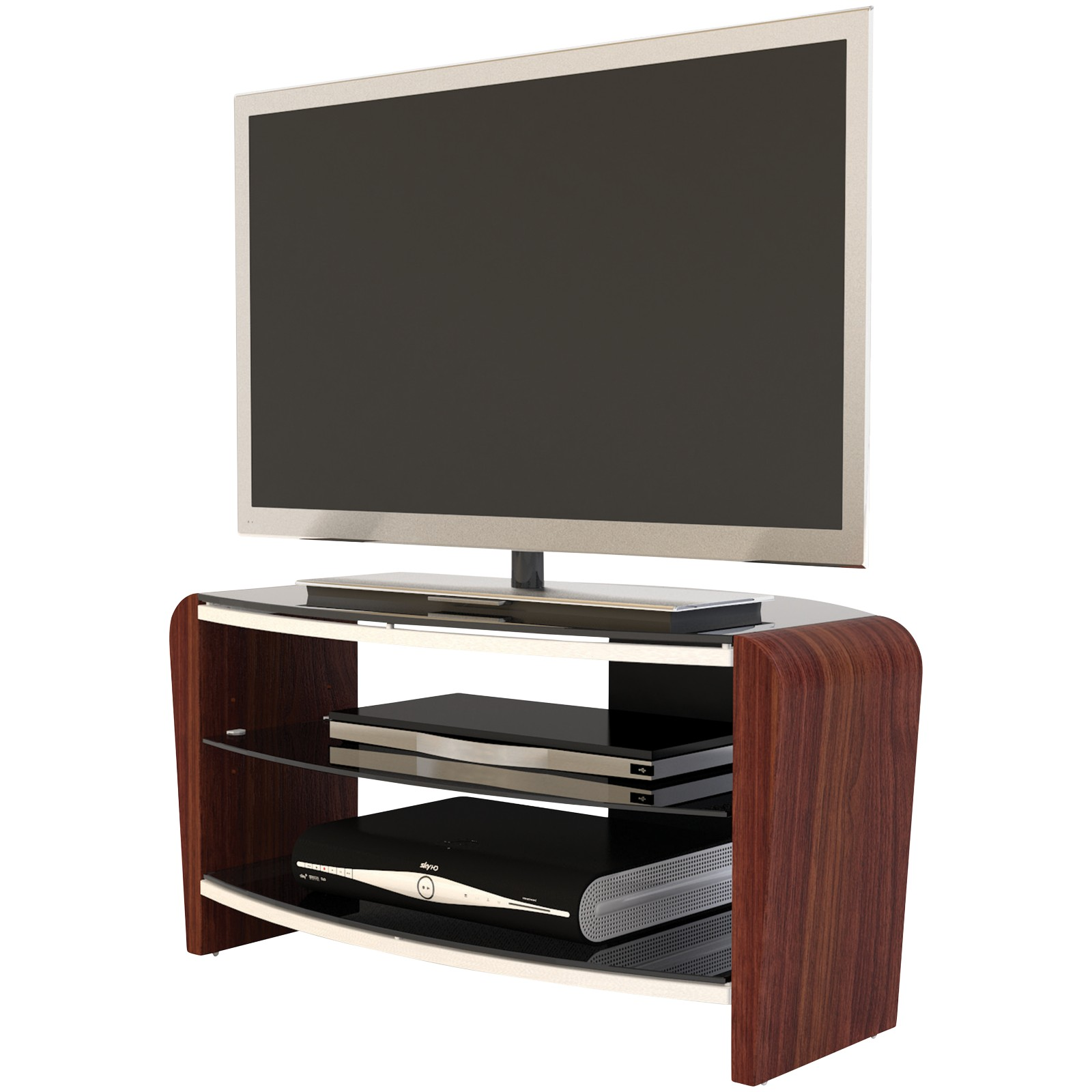 """Alphason Francium 80 TV Stand for up to 37"""" Black/Walnut"""