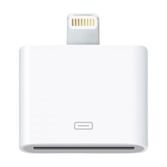 Apple Lightning connection to 30 pin adapter