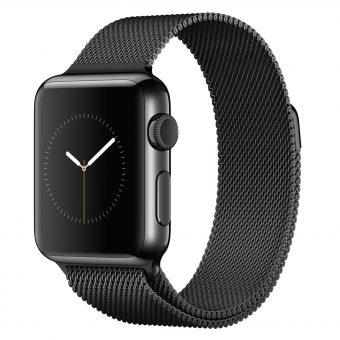 Apple Watch 38mm Space Black Stainless Steel Case & Milanese Loop