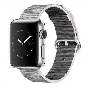 Apple Watch 38mm Stainless Steel Case & Woven Nylon Band