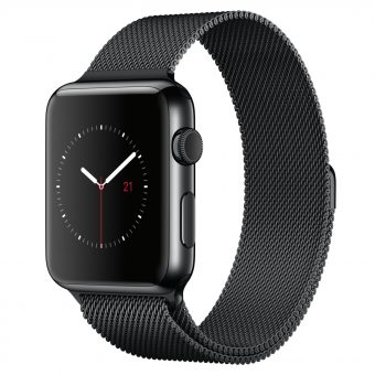 Apple Watch 42mm Space Black Stainless Steel Case & Milanese Loop