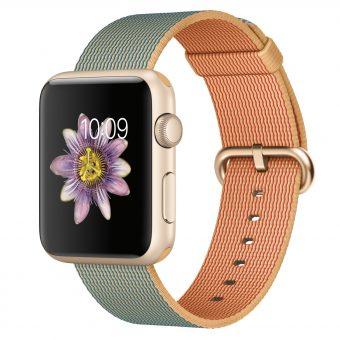 Apple Watch Sport 42mm Gold Aluminium Case & Woven Nylon Band