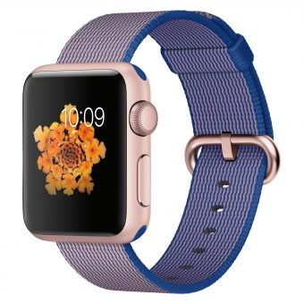 Apple Watch Sport with 38mm Rose Gold Aluminium Case & Woven Nylon Band