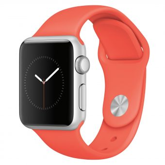 Apple Watch Sport with 38mm Silver Aluminium Case & Sport Band Apricot
