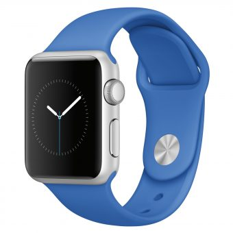 Apple Watch Sport with 38mm Silver Aluminium Case & Sport Band Royal Blue