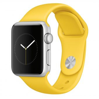 Apple Watch Sport with 38mm Silver Aluminium Case & Sport Band Yellow