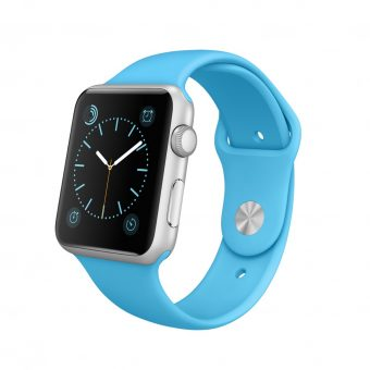 Apple Watch Sport with 42mm Silver Aluminium Case & Sport Band Blue