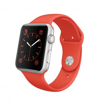 Apple Watch Sport with 42mm Silver Aluminium Case & Sport Band Orange