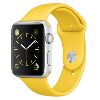 Apple Watch Sport with 42mm Silver Aluminium Case & Sport Band Yellow