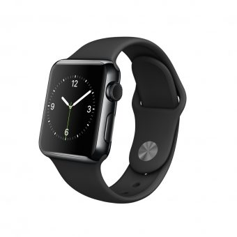 Apple Watch with 38mm Space Black Stainless Steel Case & Sport Band