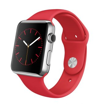 Apple Watch with 42mm Stainless Steel Case & Sport Band (PRODUCT) RED