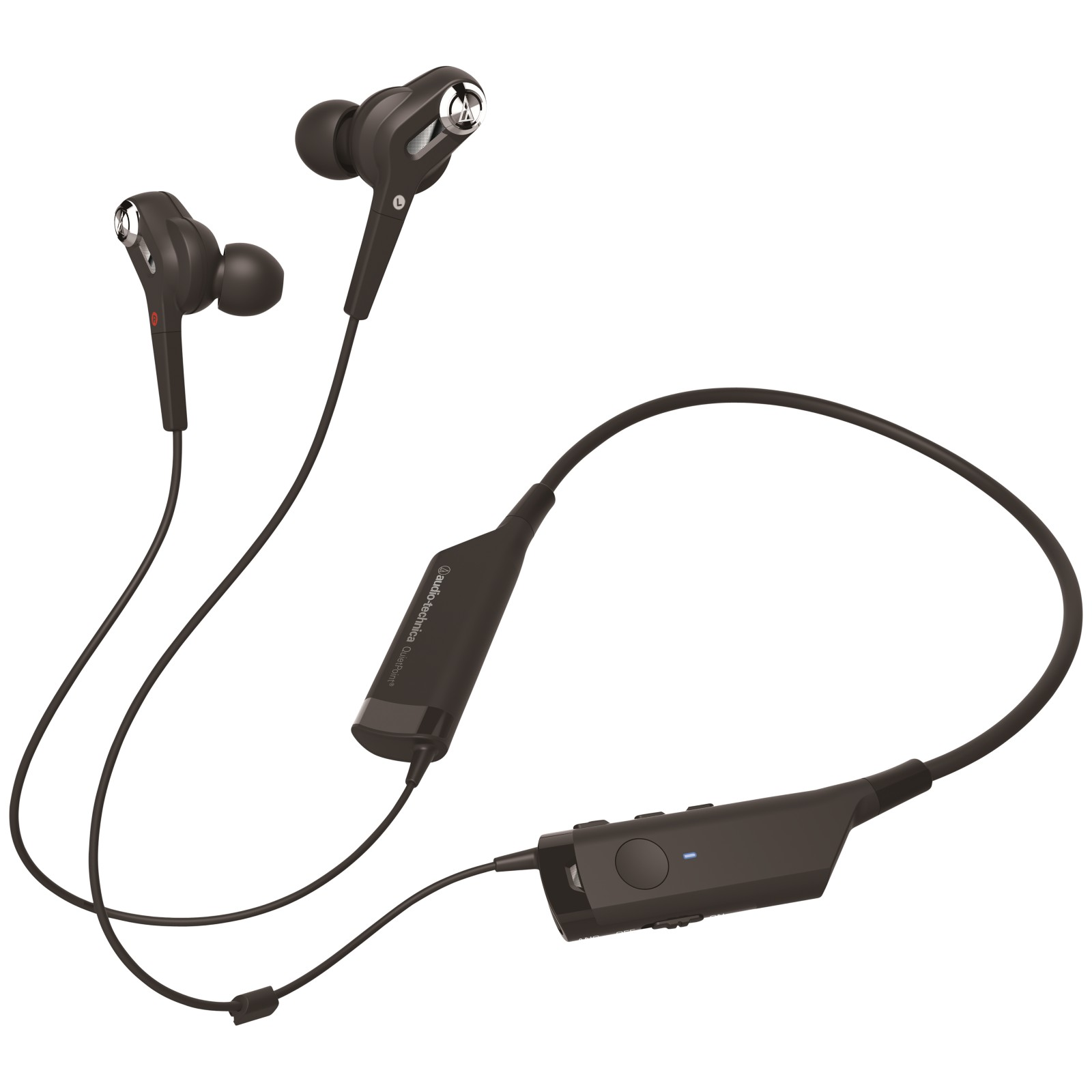 audio technica ath anc40bt quietpoint bluetooth active noise cancelling in ear headphones with. Black Bedroom Furniture Sets. Home Design Ideas