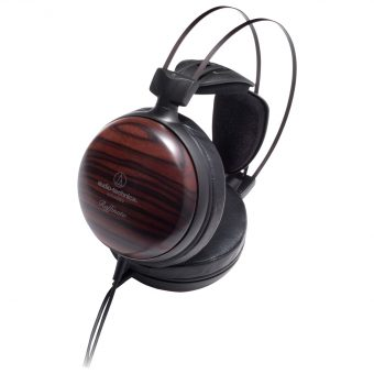 Audio-Technica ATH-W5000 Audiophile Closed-Back Dynamic Ebony Wood Over-Ear Headphones With High-Resolution Audio & Hard Shell Case