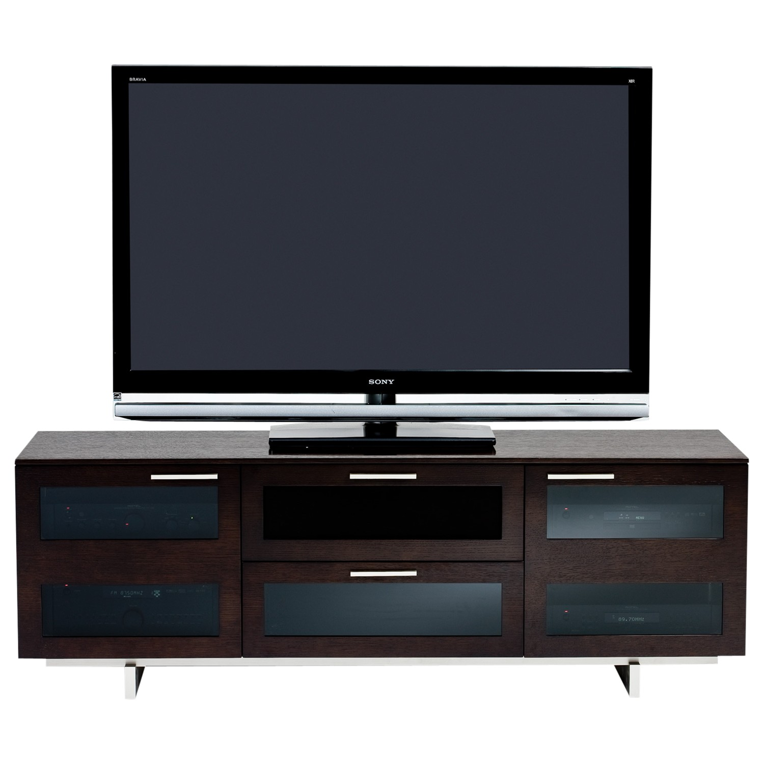 """BDI Avion 8927 TV Stand for TVs up to 75"""" Espresso Stained Oak"""