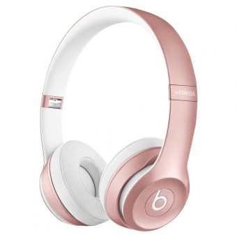 Beats™ by Dr. Dre™ Solo 2 Wireless On-Ear Headphones with Bluetooth Rose Gold
