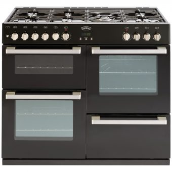 Belling DB4 100DF Dual Fuel Range Cooker Black