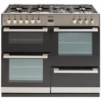 Belling DB4 100DF Dual Fuel Range Cooker Stainless Steel