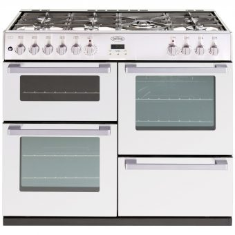 Belling DB4 100DF Dual Fuel Range Cooker White