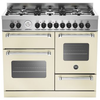 Bertazzoni MAS1006MFET Electric Dual Fuel Cooker Cream