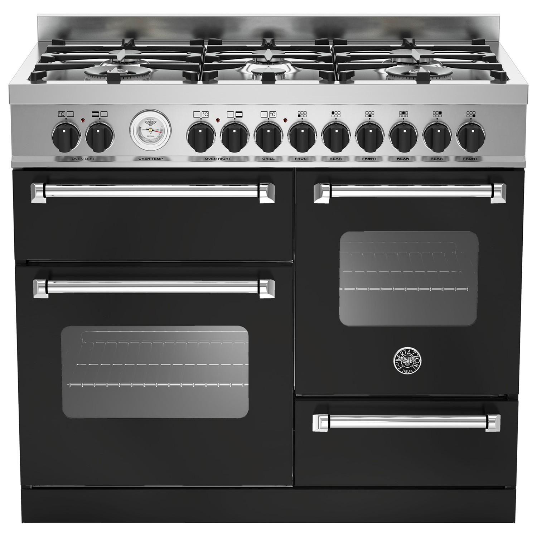 Bertazzoni MAS1006MFET Electric Dual Fuel Cooker Matt Black