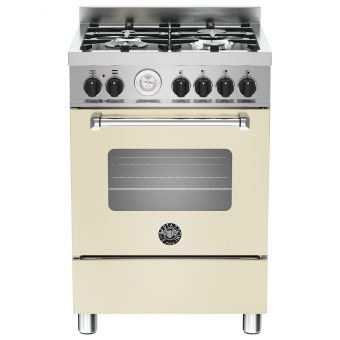 Bertazzoni MAS604MFES Dual Fuel Single Range Cooker Cream