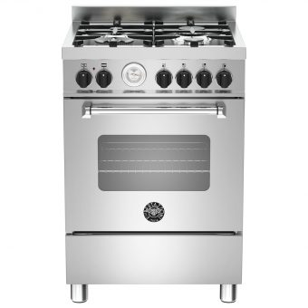 Bertazzoni MAS604MFES Dual Fuel Single Range Cooker Stainless Steel
