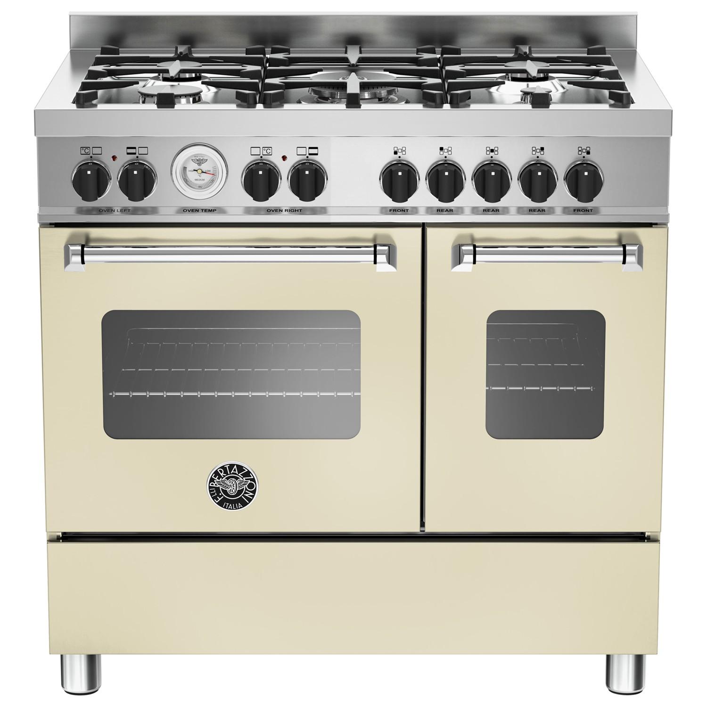 Bertazzoni MAS905MFED Twin Dual Fuel Range Cooker Cream