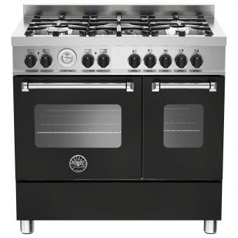Bertazzoni MAS905MFED Twin Dual Fuel Range Cooker Matt Black