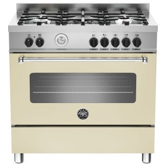 Bertazzoni MAS905MFES Dual Fuel Single Range Cooker Cream